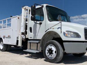 Tire Boom Service Truck